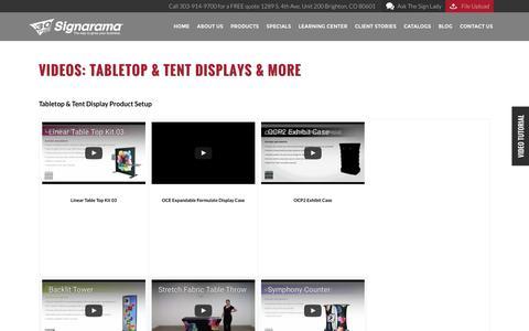 Videos: Tabletop & Tent Displays & More | Signarama Colorado