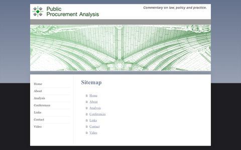 Screenshot of Site Map Page procurementanalysis.eu - Home - captured Sept. 19, 2017