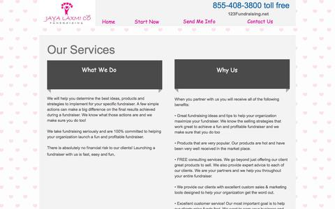 Screenshot of Services Page 123fundraising.net - Easy Fundraising Ideas, No Cost Fundraisers, No Upfront Fee, Free Fundraisers - captured Oct. 16, 2017