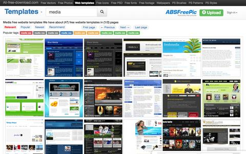 Screenshot of Press Page all-free-download.com - Media free website templates for free download about (47) free website templates. - captured Nov. 23, 2015