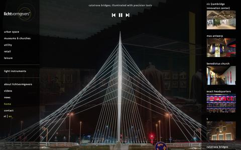 Screenshot of Home Page lichtvormgevers.com - Lichtvormgevers | Maatwerk in lichtbeleving - captured Dec. 7, 2018