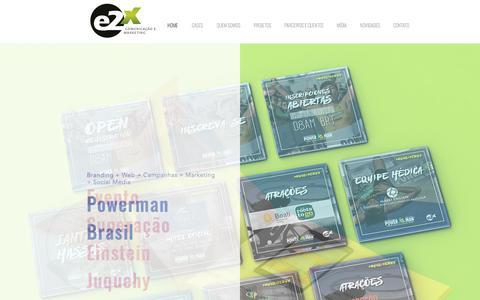 E2X | Comunicação - Marketing - Brand Comunication -Design - Projetos