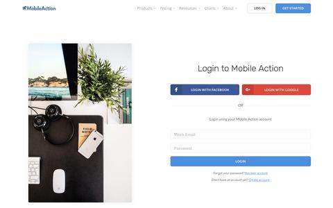 Login | Mobile Action - App Marketing Intelligence Tool
