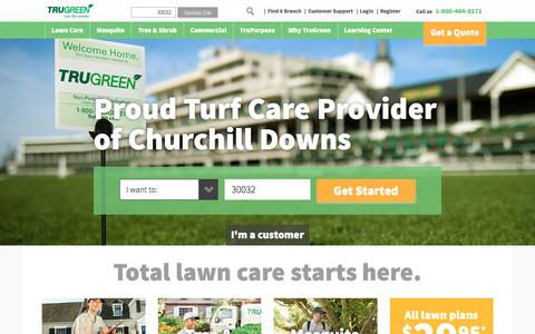 Screenshot of Home Page trugreen.com - Lawn Care Maintenance & Treatment Services | TruGreen - captured May 3, 2017