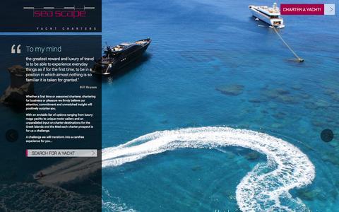 Screenshot of Team Page seascapeyachts.com - Management - captured Oct. 6, 2014