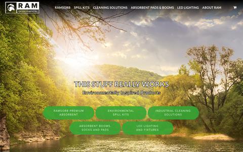 Screenshot of Home Page ramsorb.com - Home - RamSorb - captured Oct. 19, 2018