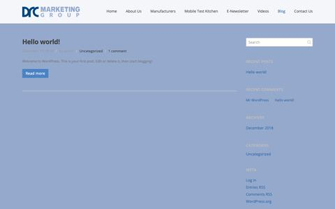 Screenshot of Blog drcmktg.com - Blog | DRC Marketing New Site | Representatives of the finest foodservice equipment manufacturers Representatives of the finest foodservice equipment manufacturers - captured Dec. 19, 2018