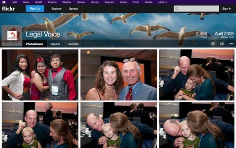 Screenshot of Flickr Page flickr.com - Flickr: Legal Voice's Photostream - captured Oct. 23, 2014