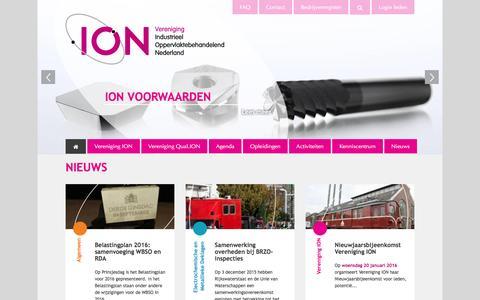 Screenshot of Home Page vereniging-ion.nl - Home | Vereniging ION - captured Jan. 11, 2016