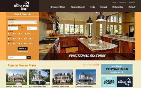 Screenshot of Home Page thehouseplanshop.com - House Plans - Floor Plans - Home Designs | TheHousePlanShop.com - captured Oct. 1, 2015