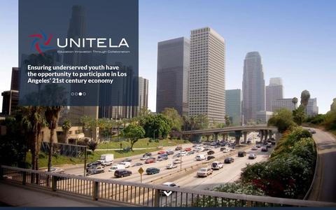 Screenshot of Home Page unitela.com - UNITE-LA - captured March 11, 2016