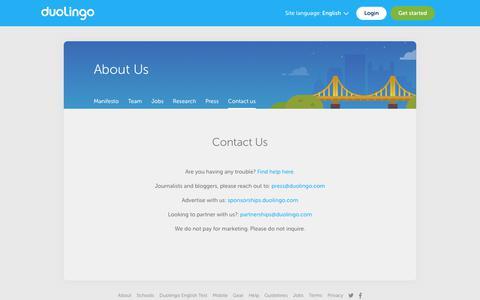 Duolingo - Contact us