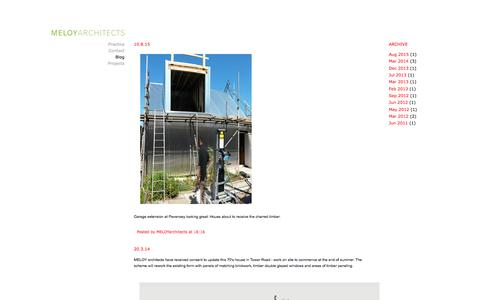 Screenshot of Blog meloy.co.uk - Meloy Architects Brighton, Sussex - Architecture Blog - captured Feb. 3, 2016