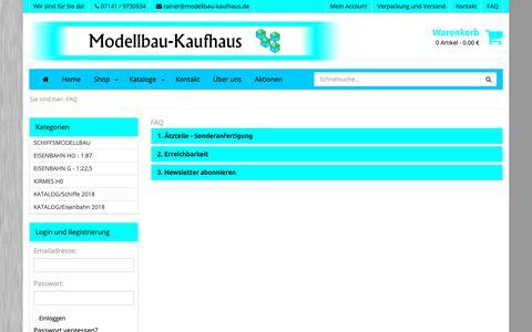 Screenshot of FAQ Page modellbau-kaufhaus.de - Modellbau-Kaufhaus - Modellbau-Kaufhaus - captured Oct. 30, 2018