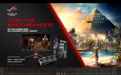 ASUS ASSASSIN'S CREED ORIGINS Game Bundle Promotion