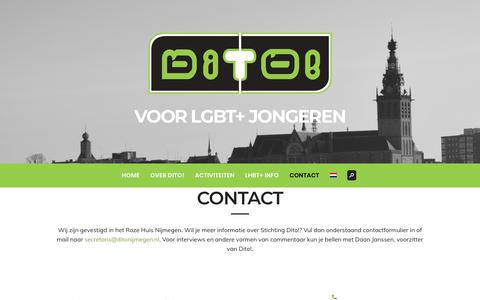 Screenshot of Contact Page ditonijmegen.nl - Contact - Dito! Nijmegen - captured Sept. 29, 2018