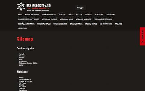 Screenshot of Site Map Page mx-academy.ch - Sitemap | MX Academy - captured May 27, 2017