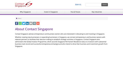 Screenshot of About Page contactsingapore.sg - About - Contact Singapore - captured May 21, 2017