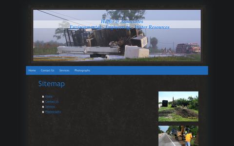 Screenshot of Site Map Page hofferassociates.com - Hoffer & Associates - Home - captured May 20, 2017