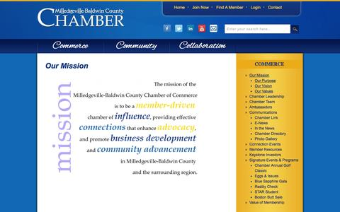 Screenshot of About Page milledgevillega.com - Our Mission - captured Oct. 6, 2014