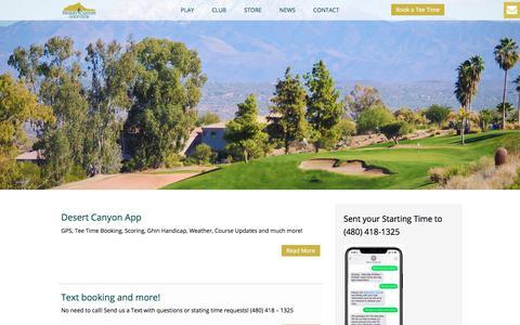 Screenshot of Press Page desertcanyongolf.com - News - Desert Canyon Golf Club - captured March 30, 2018