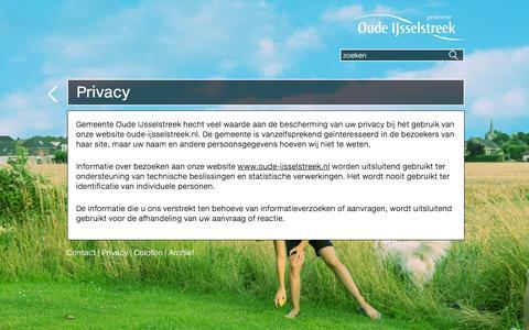 Screenshot of Privacy Page oude-ijsselstreek.nl - Privacy   Gemeente Oude IJsselstreek - captured Feb. 2, 2016