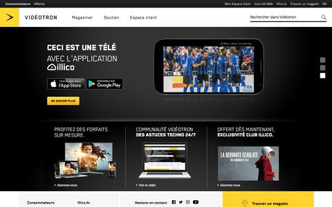 Services de Téléphonie, Internet, Télévision et Mobile | Vidéotron