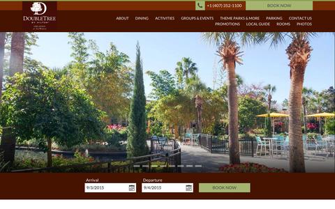 Screenshot of Home Page doubletreeorlandoseaworld.com - DoubleTree by Hilton Orlando at SeaWorld - captured Sept. 3, 2015
