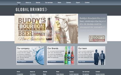 Screenshot of Home Page globalbrands.co.uk - Innovative drinks brand development | Premium Spirits, Beer, Energy drinks | GlobalBrands.co.uk | GlobalBrands.co.uk - captured Sept. 19, 2015