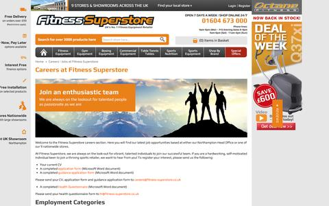 Screenshot of Jobs Page fitness-superstore.co.uk - Careers | Jobs at Fitness Superstore - captured Dec. 5, 2015