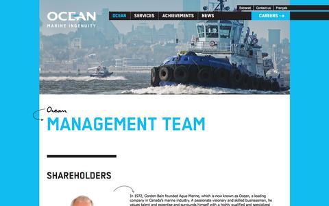 Screenshot of Maps & Directions Page groupocean.com - Management – Ocean – Ocean Group Inc. - captured Nov. 28, 2016