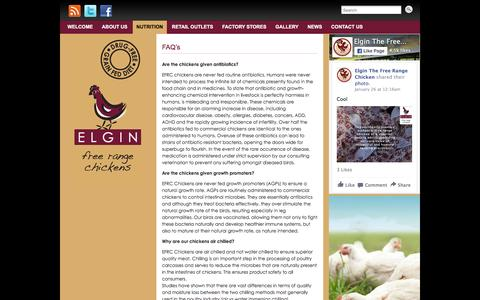 Screenshot of FAQ Page freerangechickens.co.za - FAQ's | Elgin Free Range Chickens - captured Jan. 28, 2016