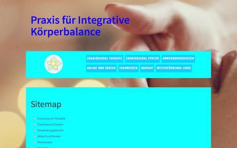 Screenshot of Site Map Page jimdo.com - Sitemap - Craniosacral Therapie Bern Schweiz - captured June 14, 2018