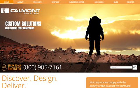 Screenshot of Home Page calmont.com - Calmont Custom Wire and Cable Company | Medical Cable, Medical Wire - captured Sept. 26, 2018