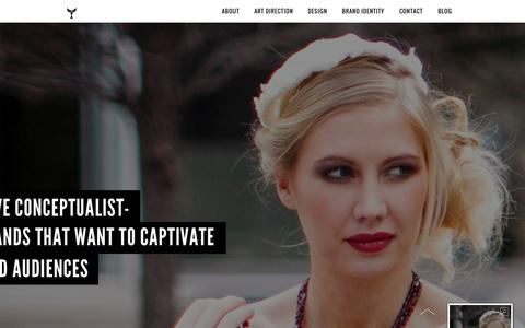 Screenshot of Home Page agraves.com - AGraves | Creative Conceptualist | Dallas Art Director | Fashion Stylist | Brand Identity - captured Sept. 30, 2014
