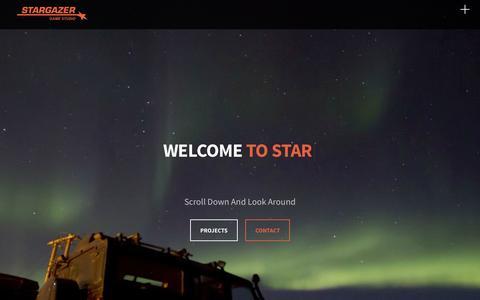 Screenshot of Home Page stargazergamestudio.com - Stargazer Game Studio - captured Aug. 16, 2015
