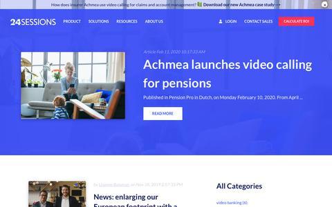 Screenshot of Press Page 24sessions.com - | news - captured Feb. 24, 2020
