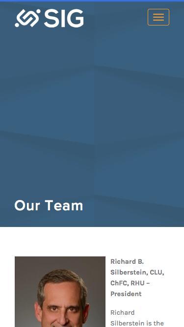 Screenshot of Team Page  silbs.com - Insurance Leadership Team | Silberstein Insurance Group