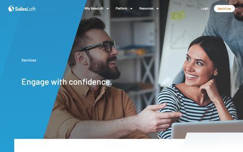 Screenshot of Services Page salesloft.com - Sales Engagement Services - SalesLoft - captured March 9, 2019