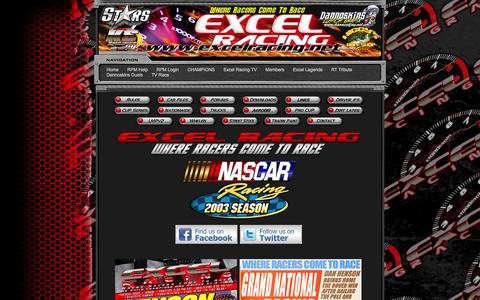 Screenshot of Home Page excelracing.net - ExcelRacing.Net - - captured Oct. 3, 2014