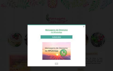 Screenshot of Home Page mensagensdodia.com.br - Mensagens do Dia - captured Nov. 27, 2018