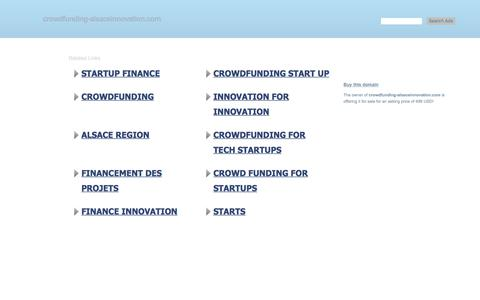 Screenshot of Home Page crowdfunding-alsaceinnovation.com - crowdfunding-alsaceinnovation.com-This website is for sale!-crowdfunding-alsaceinnovation Resources and Information. - captured Feb. 16, 2018