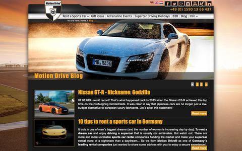 Screenshot of Blog motion-drive-rental.com - Blog - Motion Drive® - captured Oct. 20, 2018
