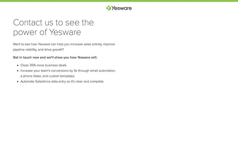 Contact Us   Yesware