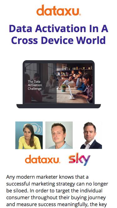 Data Activation In A Cross Device World | DataXu Webinar