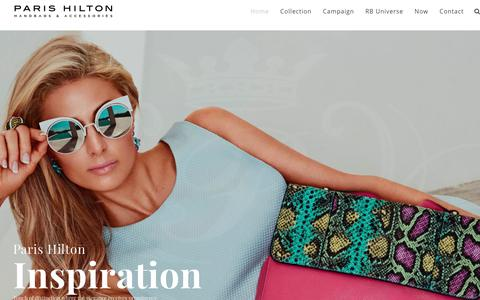 Screenshot of Home Page parishiltonpurses.com - Paris Hilton Handbags & Accessories - captured June 14, 2017