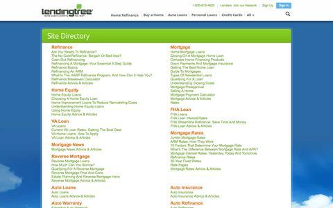 Screenshot of Site Map Page lendingtree.com - SiteMaps - LendingTree.com - captured Oct. 28, 2014