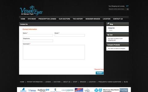 Screenshot of Contact Page bocaeyedoctor.com - Contact Us - captured Oct. 26, 2014