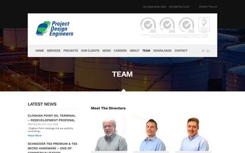 Screenshot of Team Page pde.co.uk - Team | Project Design Engineers - captured Sept. 30, 2018