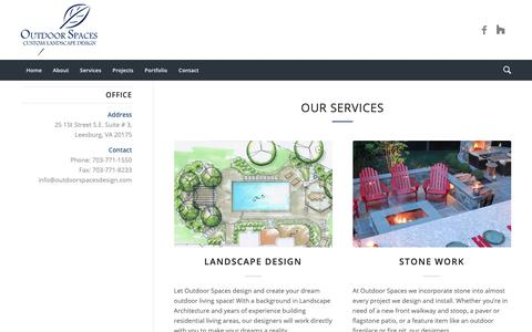 Screenshot of Services Page outdoorspacesdesign.com - Our Services - Outdoor Spaces Lanscaping - captured Oct. 18, 2018